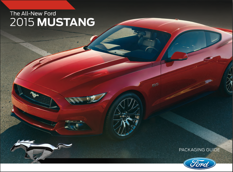 2015 Mustang Packaging Guide front