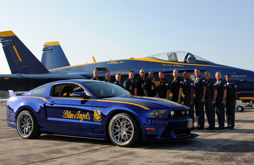 Blue angels 2012 mustang gt