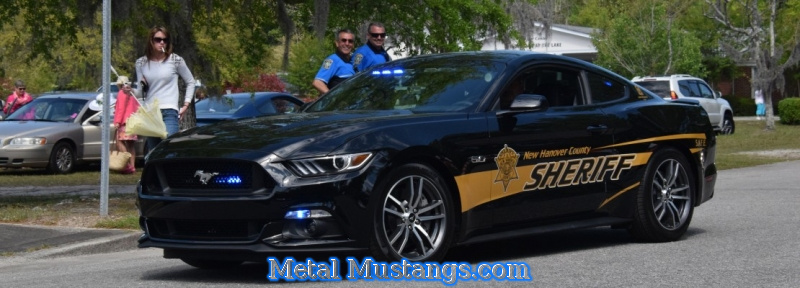 New Hanover County Sheriff, has a new Ford Mustang Generation 6 patrol unit
